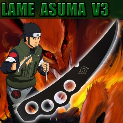 la lame d'asuma version noire v3