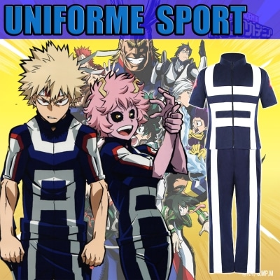 cosplay tenue de sport dans my hero academia