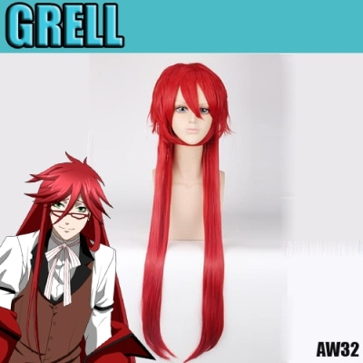 perruque black butler grell aw32